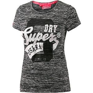 Superdry T-Shirt Damen dunkelgrau