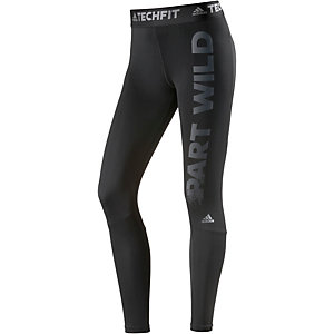 adidas Techfit Tights Damen schwarz/grau