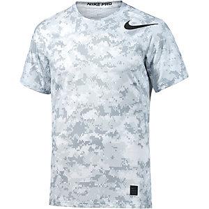 Nike Pro Hypercool Camo Funktionsshirt Herren weiß/grau