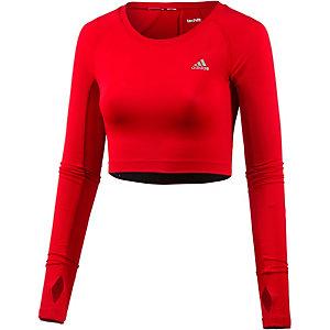 adidas Techfit Crop Langarmshirt Damen rot