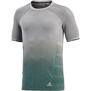 adidas Ultra Laufshirt Herren grau/grün