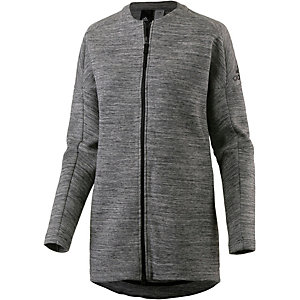 adidas ZNE Travel Sweatjacke Damen grau/melange