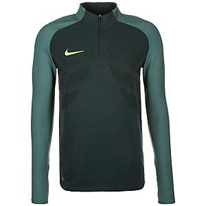 Nike Strike Drill Aeroswift Funktionssweatshirt Herren dunkelgrün / gelb