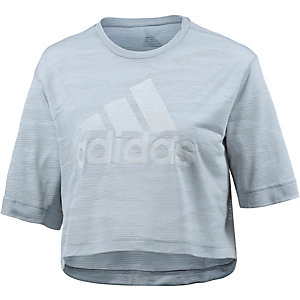adidas Box Crop T-Shirt Damen hellgrau