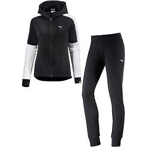 puma trainingsanzug damen schwarz im online shop von sportscheck kaufen. Black Bedroom Furniture Sets. Home Design Ideas