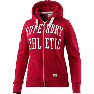 Superdry Sweatjacke Damen rot/weiß