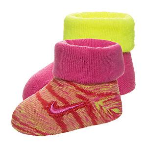 Nike Marled Knit Babysocke Mädchen pink / lime / rot