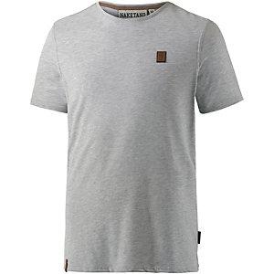 Naketano Italienischer Hengst V T-Shirt Herren grau melange
