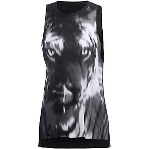 adidas Boxy Prime Tanktop Damen schwarz/weiß