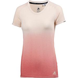 adidas Ultra Laufshirt Damen offwhite/koralle