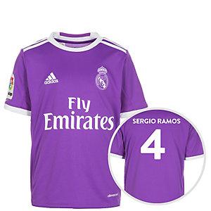 adidas Real Madrid 16/17 Auswärts Ramos Fußballtrikot Kinder lila / weiß