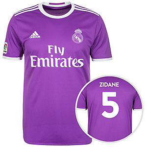 adidas Real Madrid 16/17 Auswärts Zidane Fußballtrikot Herren lila / weiß