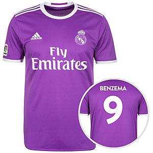 adidas Real Madrid 16/17 Auswärts Benzema Fußballtrikot Herren lila / weiß