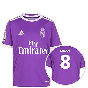 adidas Real Madrid 16/17 Auswärts Kroos Fußballtrikot Kinder lila / weiß