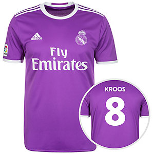 adidas Real Madrid 16/17 Auswärts Kroos Fußballtrikot Herren lila / weiß