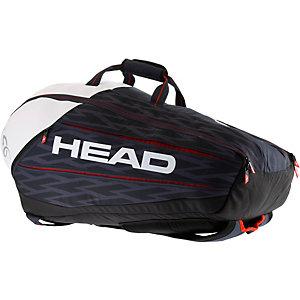 HEAD Djokovic 9R Supercombi Tennistasche schwarz/weiß