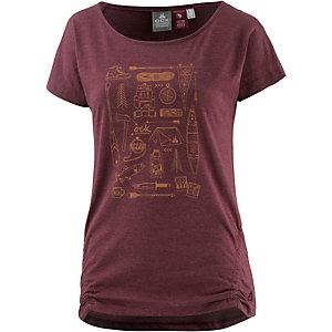 OCK Printshirt Damen weinrot