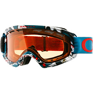 Oakley O2 XS Snowboardbrille shady trees blue red/persimmon