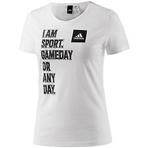 adidas T-Shirt Damen weiß/schwarz