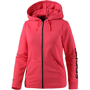 adidas essentials sweatjacke damen pink im online shop von. Black Bedroom Furniture Sets. Home Design Ideas