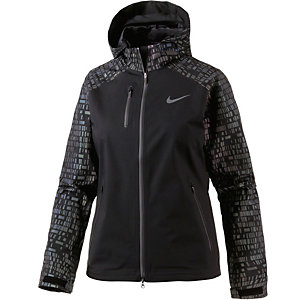 Nike Shield Flash Laufjacke Damen schwarz