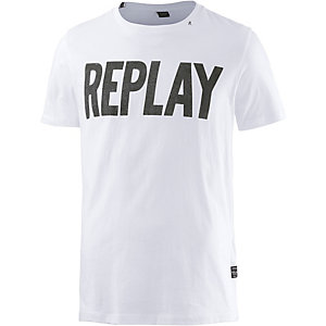 REPLAY T-Shirt Herren weiß