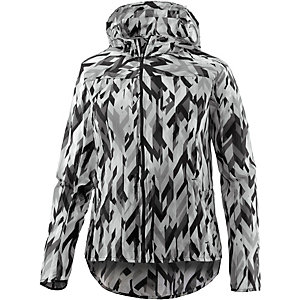Nike Impossibly Light Hooded Laufjacke Damen grau/weiß