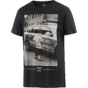 iriedaily Pissizei Printshirt Herren schwarz
