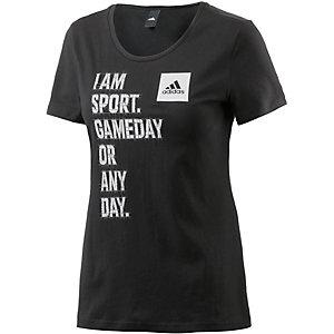adidas T-Shirt Damen schwarz/weiß