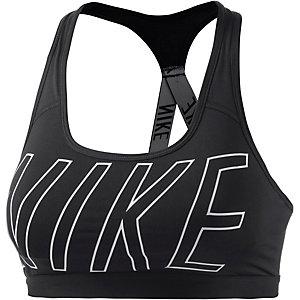 Nike Pro Classic Logo Read Sport-BH Damen schwarz