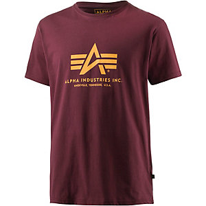 Alpha Industries T-Shirt Herren bordeaux