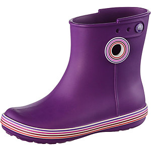 Crocs Jaunt Stripes Shorty Gummistiefel Damen aubergine