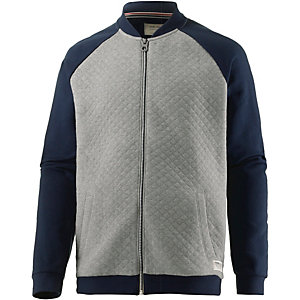 tom tailor sweatjacke herren grau blau im online shop von. Black Bedroom Furniture Sets. Home Design Ideas