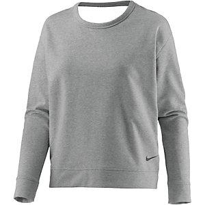 Nike Dry Versa Open Langarmshirt Damen dunkelgrau