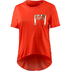 Reebok Pocket T-Shirt Damen rot/metallic