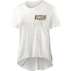 Reebok Pocket T-Shirt Damen weiß/metallic