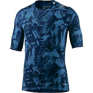 adidas Tech Fit Base Kompressionsshirt Herren blau