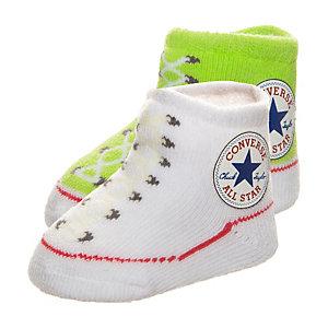 CONVERSE All Star Babysocke Kinder lime / weiß