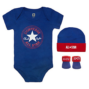 CONVERSE All Star Babyset Kinder blau / rot / weiß