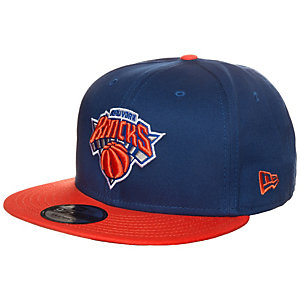 New Era 9FIFTY NBA Team New York Knicks Cap blau / orange