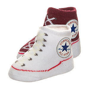 CONVERSE All Star Babysocke Kinder weiß / bordeaux