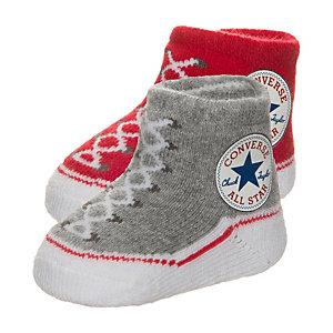 CONVERSE All Star Babysocke Kinder rot / grau / weiß