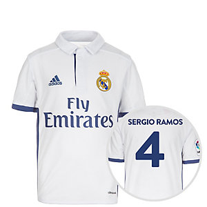 adidas Real Madrid 16/17 Heim Ramos Fußballtrikot Kinder weiß / lila