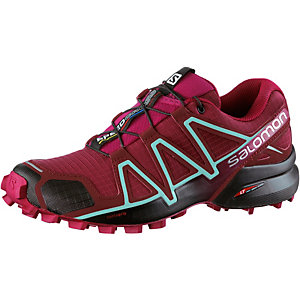 Salomon Speedcross 4 Laufschuhe Damen bordeaux/hellblau