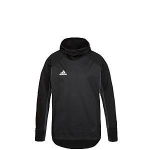 adidas Tiro 17 Warm Kapuzenshirt Kinder schwarz / grau
