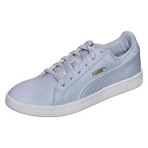 PUMA Smash L Sneaker Damen hellblau / weiß