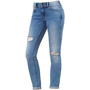 TOM TAILOR Nela Skinny Fit Jeans Damen destroyed denim
