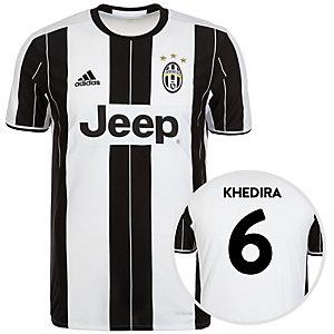 adidas Juventus Turin 16/17 Heim Khedira Fußballtrikot Herren weiß / schwarz