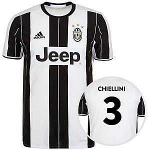 adidas Juventus Turin 16/17 Heim Chiellini Fußballtrikot Herren weiß / schwarz