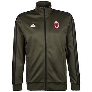 adidas AC Mailand 3-Streifen Track Top Trainingsjacke Herren dunkelgrün / schwarz